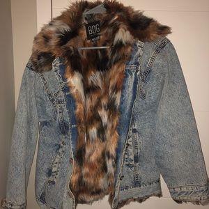 BDG Urban Outfitters Faux Fur Denim Jacket